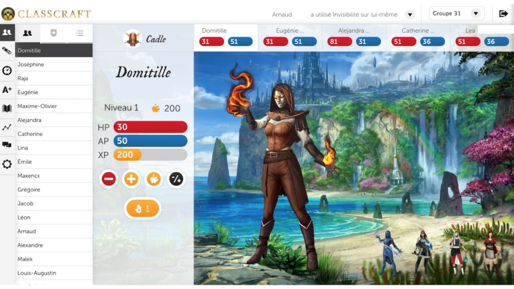 Classcraft De Rochebelle David Martel